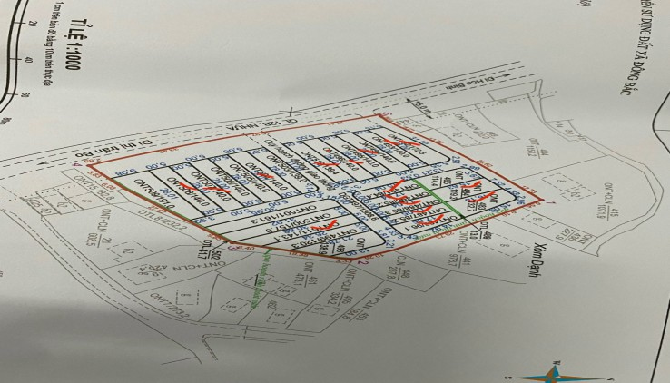 Bán đất phân lô tại Khu đấu giá chợ Dạnh, xóm Đồng Nang, xã Đông Bắc, KIm Bôi .Giá chỉ từ 7.3tr đến 15.3tr/m2