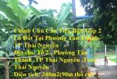 Chính Chủ Cần Tiền Bán Gấp 2 Lô Đất Tại Phường Tân Thành- TP Thái Nguyên